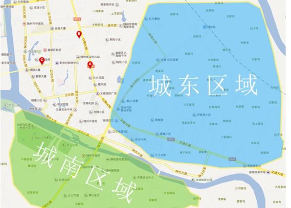 随州城东城南地图